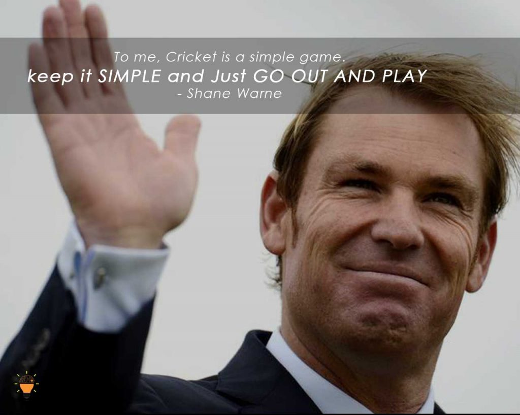 Some Inspiring Quotes from Famous Cricketers of the World -Shane Warne